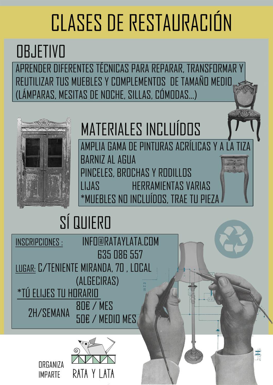 cartel de las clases de restauracion que se imparten en el centro de algeciras