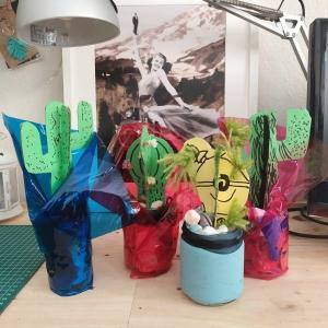 Taller infantil en Algeciras- cactus de papel- manualidades