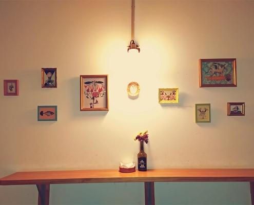 serie de collages realizados para el bar El Taller, en Algeciras