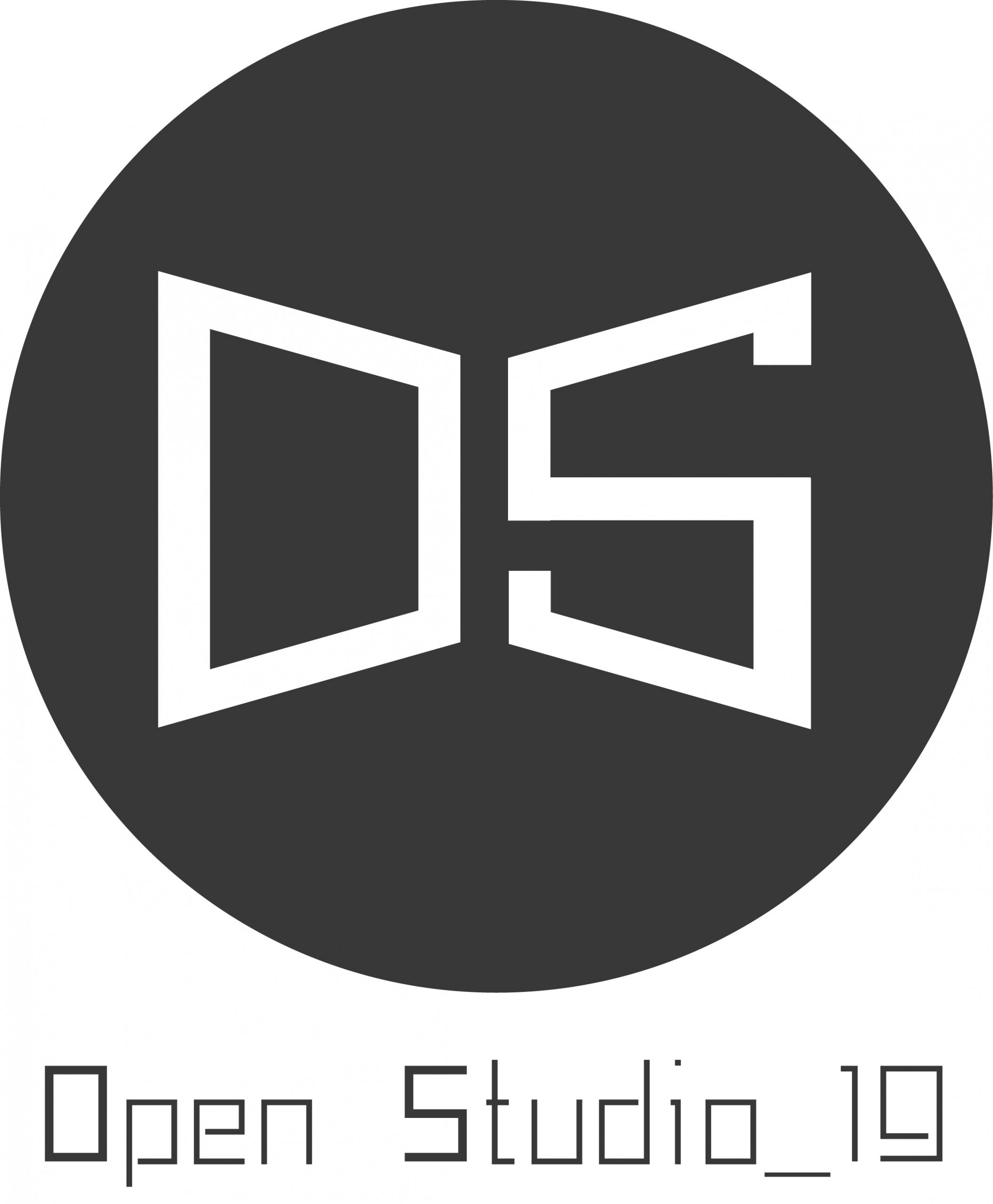 logo para el evento open studio en algeciras